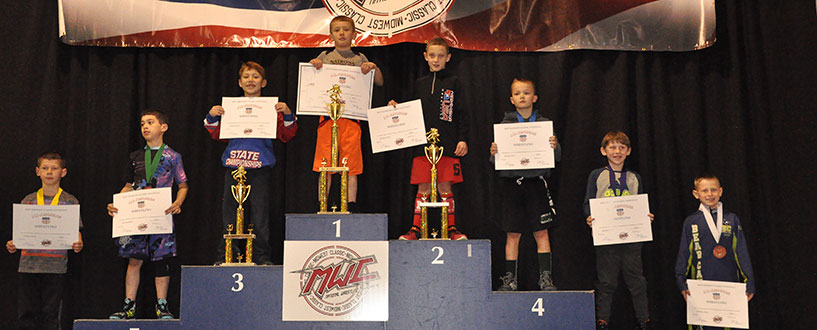 Wrestlers on the Medal Stand